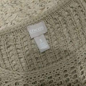Chico's Tops - Chico's Size 3 Crochet Top
